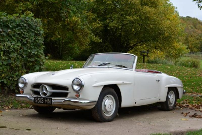 Mercedes 190SL at Brightwells last sale of 2015